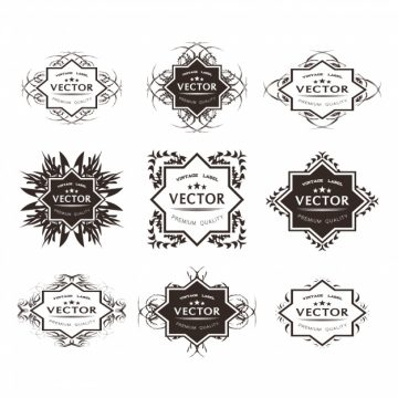 Free vector Beautiful ornamental logo collection #18316