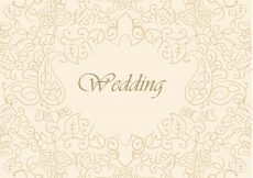 Free vector Beautiful wedding background #13039