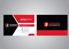 Free vector Black and red business card #16699