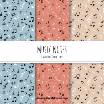 Free vector Black music notes pattern #17568
