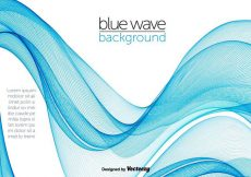 Free vector Blue Abstract Swish Wave Vector #12886