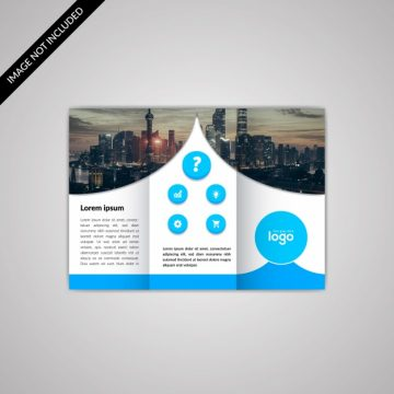 Free vector Blue and white business brochure #18627