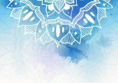 Free vector Blue background with hand drawn mandala #13137