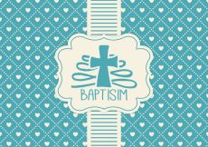 Free vector Blue Baptisim Card Template #17269