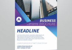 Free vector Business brochure with forms in blue and purple tones #13910