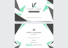 Free vector Business card with triangles #17121