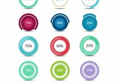 Free vector Circle stats collection #17304