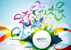 Free vector Colorful floral background #18681