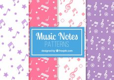 Free vector Colorful patterns of musical notes #14048