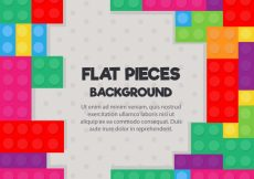 Free vector Colorful pieces of game background in flat design #18228
