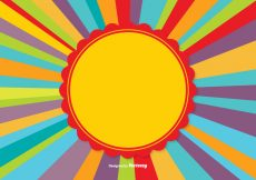 Free vector Colorful Sunburst Background #15348