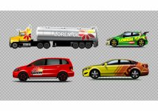 Free vector Colorful vehicle collection #13293