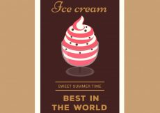 Free vector Decorative card with summer dessert #12883