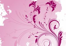 Free vector Decorative floral design on a grunge style background #16911