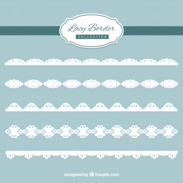 Free vector Decorative lace edge pack #18825