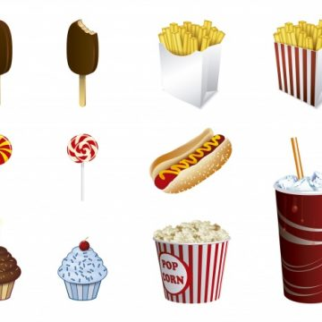 Free vector Fast food icon collection #16486