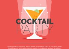 Free vector Flat design cocktail party background #18168