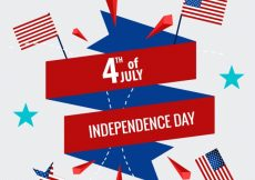 Free vector Fourth of july background #16739