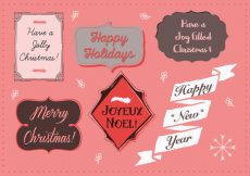Free vector Free Christmas Background Illustration with Typography #12456