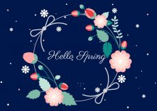 Free vector Free Flower Wreath Vector Background #14868