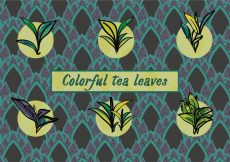 Free vector Free Various Tea Leaves Vector Background #15976