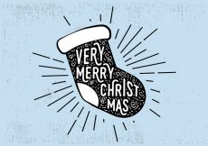 Free vector Free Vintage Hand Drawn Christmas Card Background #16029