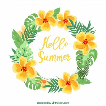 Free vector Hand drawn summer floral crown #14483