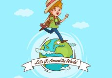 Free vector Hand drawn world traveler background #18719