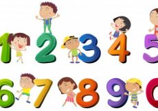 Free vector Happy children counting numbers illustration #13497
