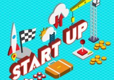 Free vector Illustration of startup concept in isometric graphic #13612