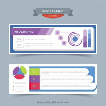 Free vector Infographic banners with color details #15215