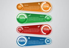 Free vector Infographic template with stats #16516
