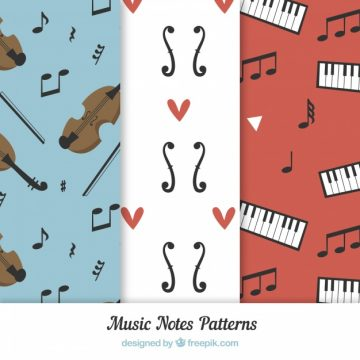 Free vector Instruments and music notes pattern #17576