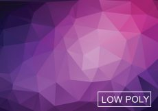 Free vector Low Polygonal Background Vector #17545