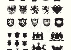 Free vector Luxury emblems collection #16726