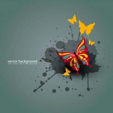 Free vector Modern butterfly background #16276