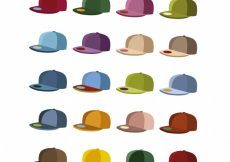 Free vector Multicolor cap collection #15925