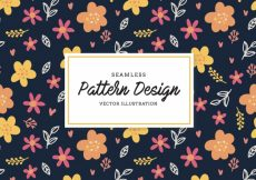 Free vector Multicolor flowers pattern background #18929