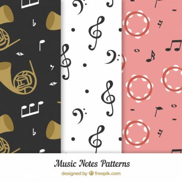 Free vector Music notes pattern background #17578
