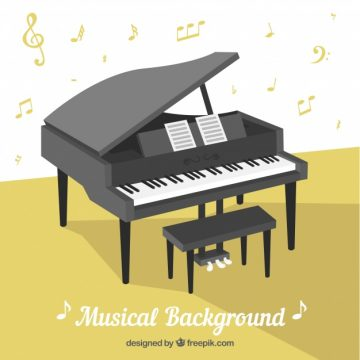 Free vector Musical background with piano #17584