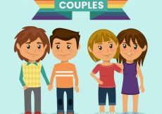 Free vector Nice couples celebrating the pride day  #16713