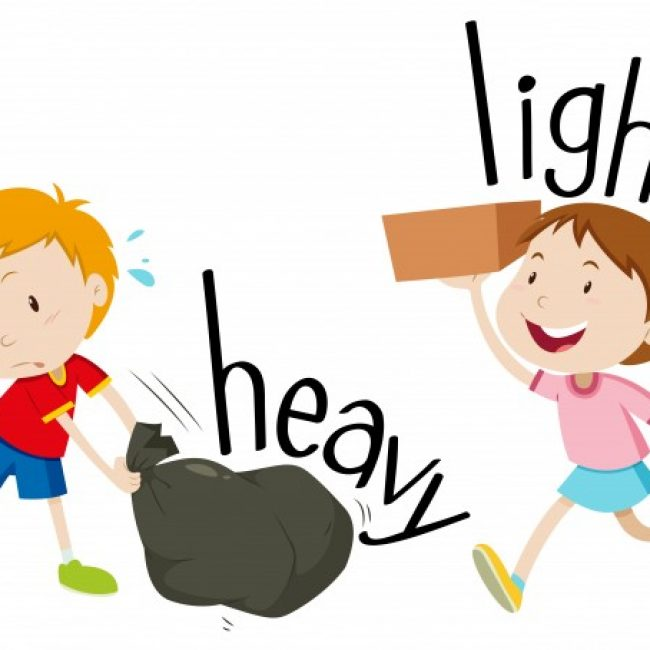 Free Vector Opposite Adjectives Heavy And Light 18591