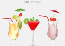 Free vector Pack of delicious summer drinks #18147