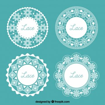 Free vector Pack of four ornamental lace frames #18857