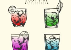 Free vector Pack of hand-drawn cocktails #18164