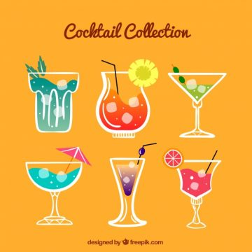 Free vector Pack of hand-drawn cool drinks #18154