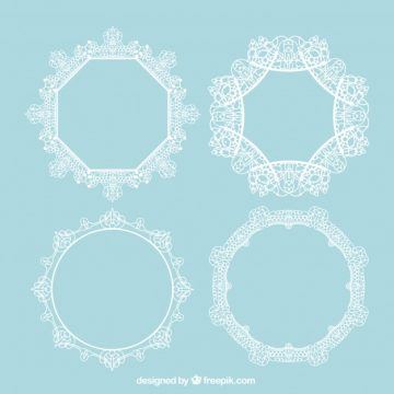 Free vector Pack of ornamental lace frames #18811