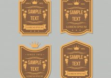 Free vector Pack of wine retro stickers #14107