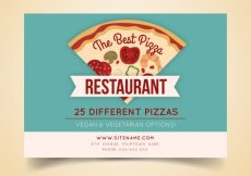 Free vector Pizzeria brochure in vintage style #18915