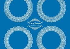 Free vector Pretty round lace frames #18841